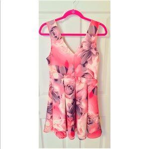 Windsor Pink Floral Skater Dress